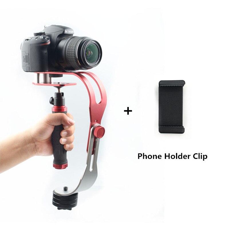 Aleación de aluminio Mini cámara Digital portátil videocámara estabilizador de vídeo Steadicam móvil DSLR 5DII movimiento DV Steadycam para Gopro