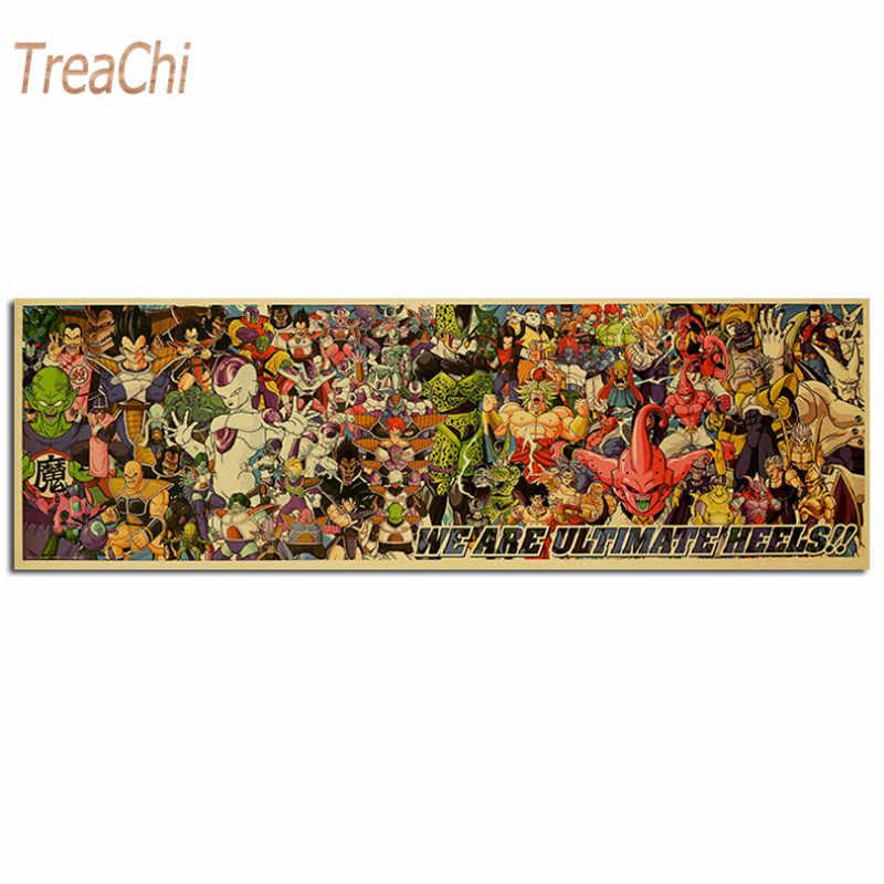لعبة دراغون بول Z المشارك غوكو الكرتون ملصق الفيلم كرافت ورقة الرجعية ملصق جدار ملصقا الزخرفية اللوحة المنزل الديكور