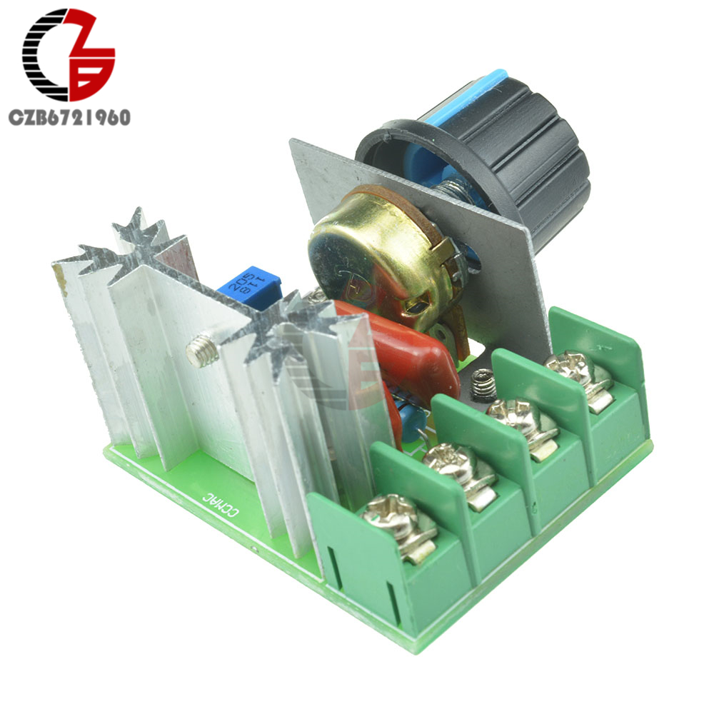 Adjustable SCR Voltage Regulator Controller AC 220V 2000W Dimming Dimmers Switch Speed Controller Electronic Thermostat ac 50 250v 2000w motor speed controller adjustable electronic voltage regulator thermostat dimming dimmers regulator module