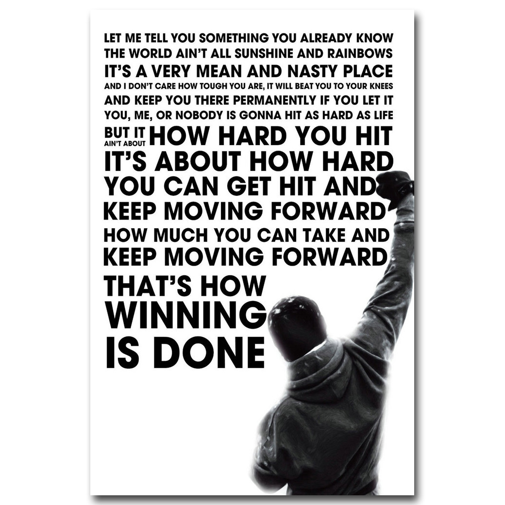 Motivational inspirational quote positive life poster picture print wall art 059
