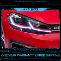 AKD tuning cars Headlight For VW Golk7.5 Golf 7.5 MK7.5 Golf7 Headlights LED DRL Running lights Bi Xenon Beam Fog angel eyes