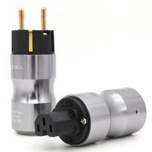 Высокое качество позолоченный ЕС Schuko версия шнур питания вилка+ IEC гнездовой разъем удлинитель адаптер