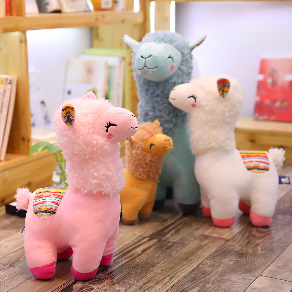Lovely 25-45cm Alpaca Llama Plush Toy Doll Animal Stuffed Animal Dolls Soft Plush Alpaca For Kids Birthday Gifts 4 Colors