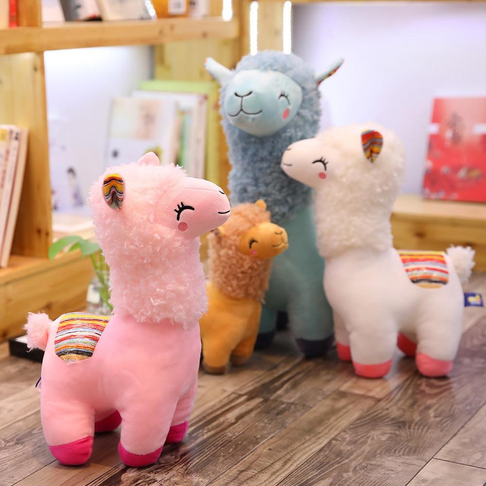 Lovely 25-45cm Alpaca Llama Plush Toy Doll Animal Stuffed Animal Dolls Soft Plush Alpaca For Kids Birthday Gifts 4 Colors(China)