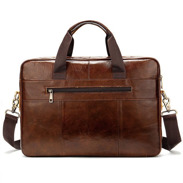 Genuine Leather Briefcase Shoulder Messenger Bag