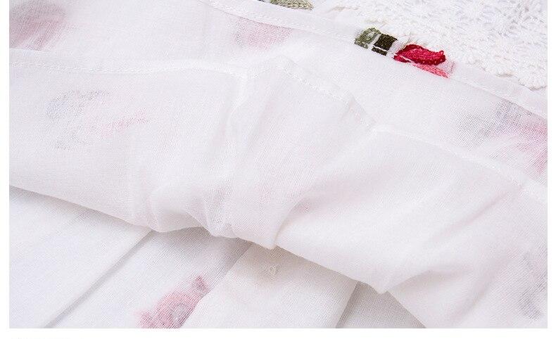 Koronkowe rękawy Dziewczynek sukienki Dekoracje kwiatowe Noworodek - Odzież dla niemowląt - Zdjęcie 6