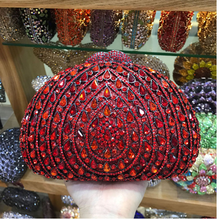 Ladies Gold Crystal Evening Clutch Bag black Rhinestones Bridal Wedding pink day Clutches Purse Women Party Mini Dinner Handbags crystal rhinestones women evening clutch bag bridal wedding clutches party dinner prom chain shoulder handbag purse