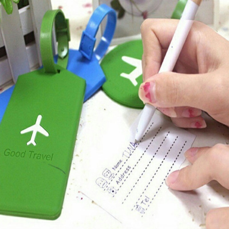 ZGTGLAD Silicone baggage tag suitcase signs luggage checked board luggage identification card