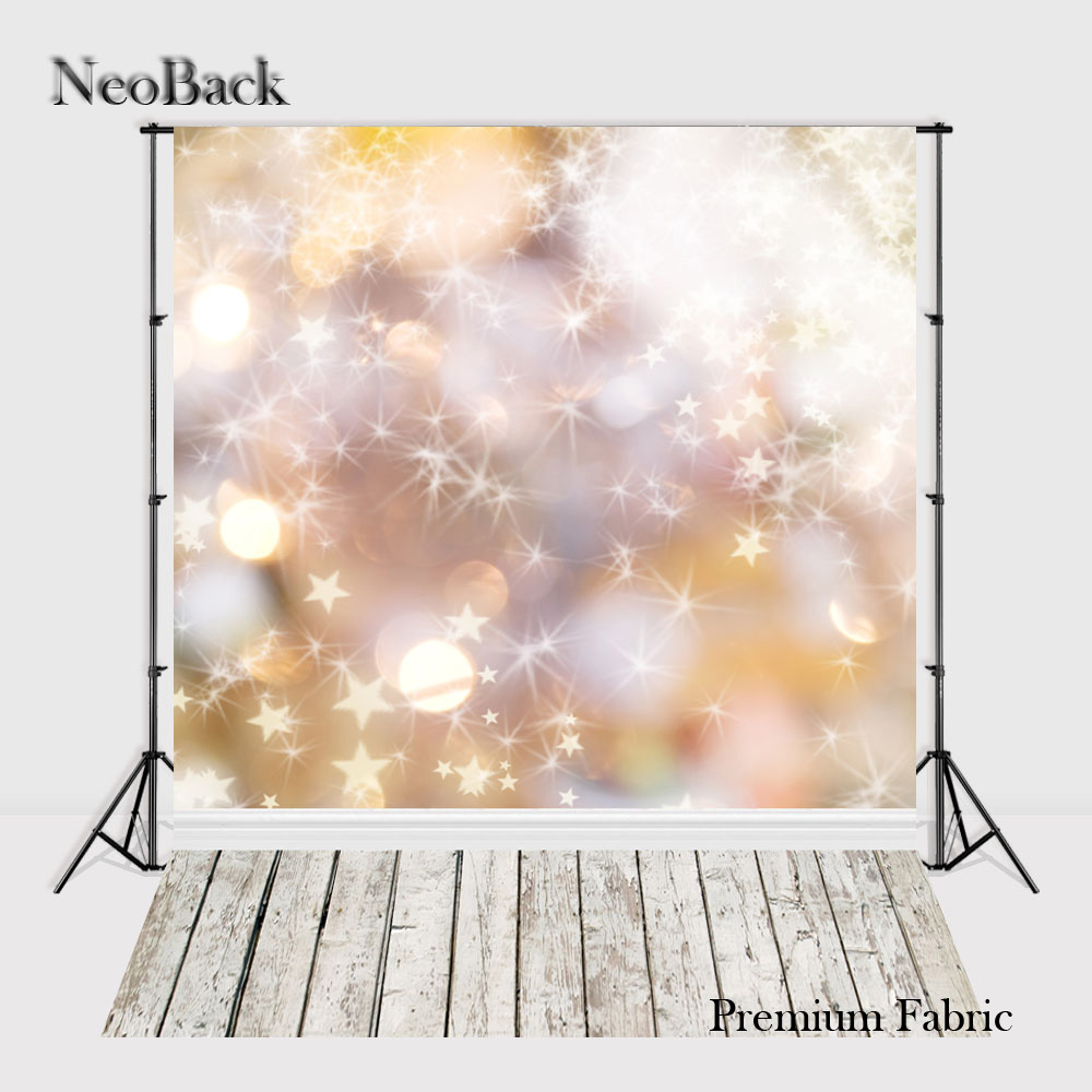 NeoBack 300x600cm Bokeh Premium Fabric Photo Background Twinkle Star Photography backdrop Studio Christmas Photo Backdrop TP1056 allenjoy backdrop spring background green grass light bokeh dots photocall kids baby for photo studio