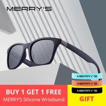 MERRYS Дизайнерские мужские и женские классические ретро поляризованные солнцезащитные очки с заклепками, легкий дизайн, квадратная оправа, защита от ультрафиолета S8508