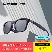 MERRYS DESIGN hommes femmes classique rétro Rivet lunettes de soleil polarisées Design plus léger cadre carré 100% Protection UV S8508