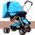 Estrutura de aço carbono dobrar carrinho de bebê roda de plástico de alta qualidade e rosto para a mamãe ou o rosto para remover placa mão resto do mundo