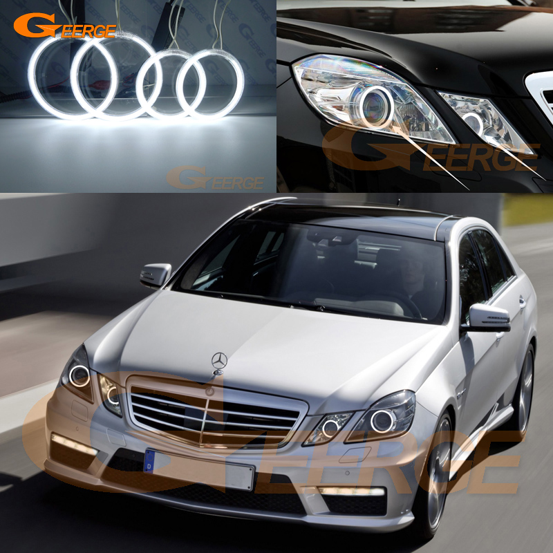 Excellent Ultra Bright CCFL Angel Eyes Kit Halo Rings For Mercedes Benz E Class W212 2009-2012 Pre Facelift Xenon Headlight