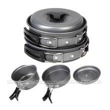 8 Unids/set Cuencos Ollas Sartenes Utensilios de Cocina Portátil Para Acampar Al Aire Libre Senderismo Aleación De Aluminio de Picnic Set de Cocina