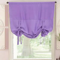 Roman Curtains Purple Kitchen Cabinet Curtains for Living Room Window Door Drapes Black Short Curtains Shade Blinds DL010 #30