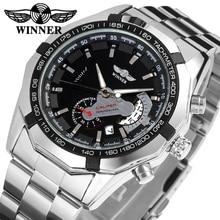 380d4d88da2 2017 Novos Homens de Moda Vencedor Marca horloges mannen Elegante Esqueleto  montre relogios relógio Automático Clássico