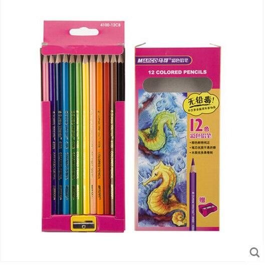 12pcsset Premium Color Pencil With A Sharpener High Quality Eco - Premium-color-pencils