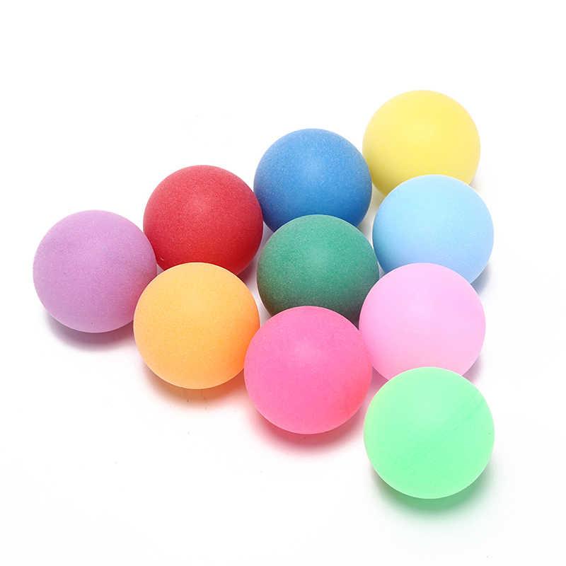 100 шт./упак. развлекательные мячи для настольного тенниса Цветные пинг понга 40 мм