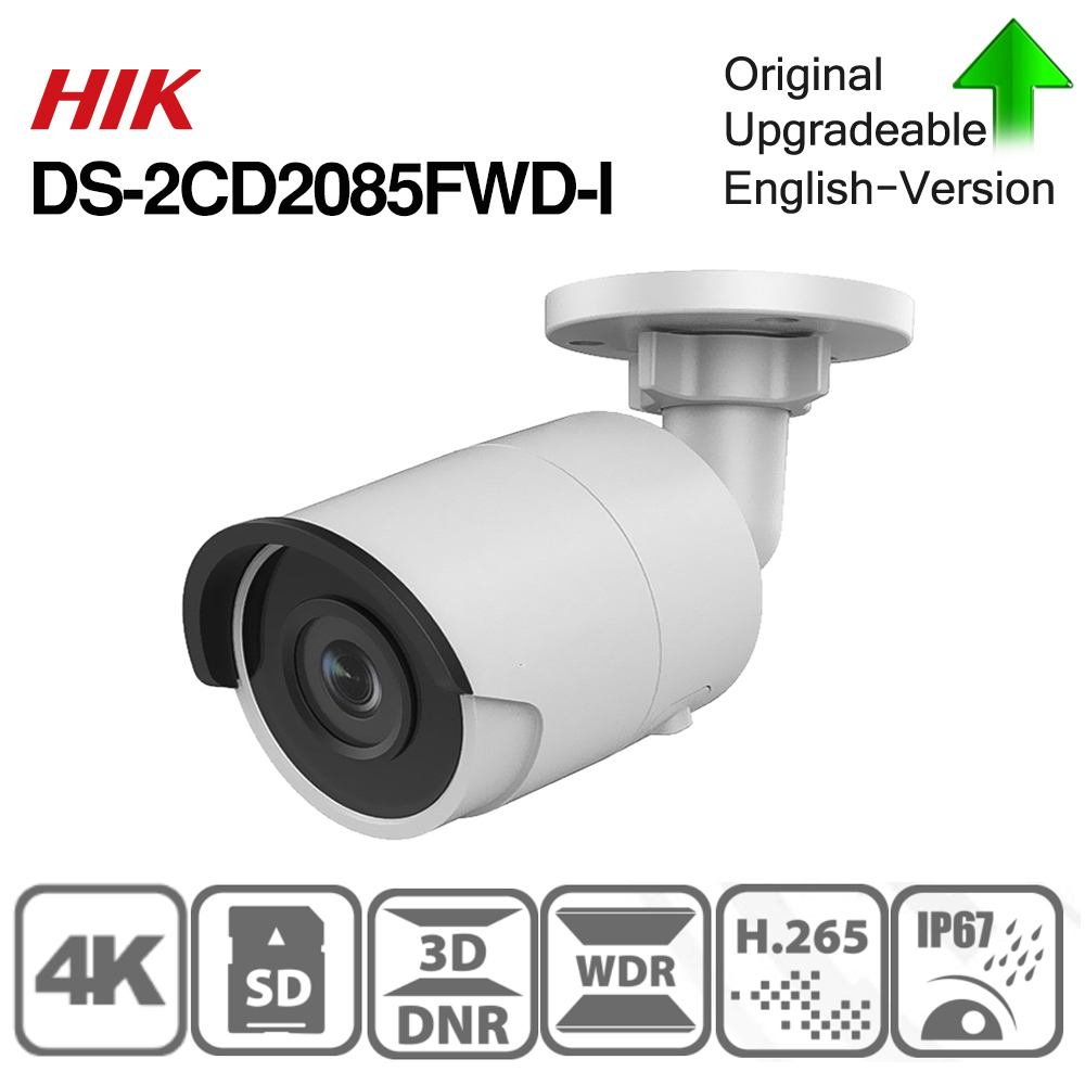 Image 3 - Hikvision Original IP Camera 8MP DS 2CD2085FWD I Bullet network CCTV Camera Updateable WDR POE  SD Card Slot-in Surveillance Cameras from Security & Protection