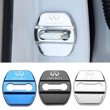 4 pçs estilo do carro auto fechadura da porta capa etiqueta do carro caso para infiniti fx35 q50 q30 esq qx50 qx60 qx70 ex jx35 g35 g37 ex3
