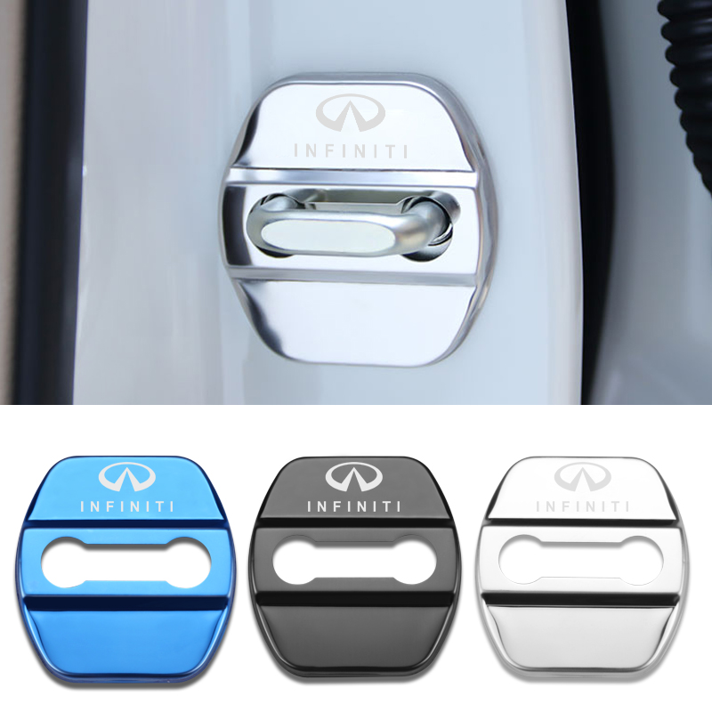 4pcs Car Styling Auto Door Lock Cover Car Sticker Case For Infiniti FX35 Q50 Q30 ESQ QX50 QX60 QX70 EX JX35 G35 G37 EX3-in Styling Mouldings from Automobiles & Motorcycles