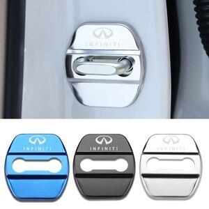 Image 1 - 4pcs Car Styling Auto Door Lock Cover Car Sticker Case For Infiniti FX35 Q50 Q30 ESQ QX50 QX60 QX70 EX JX35 G35 G37 EX3