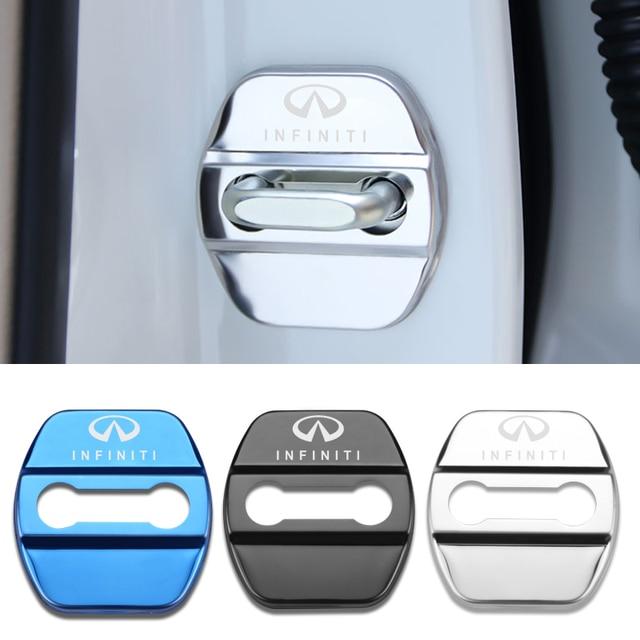 4pcs Car Styling Auto Door Lock Cover Car Sticker Case For Infiniti FX35 Q50 Q30 ESQ QX50 QX60 QX70 EX JX35 G35 G37 EX3