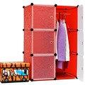 2016 Продажа Новый Шкаф 6 Кубов Окружающей Среды Простой Шкаф Diy Модульная Организатор Дешевые Встроенные Шкафы Портативный Пластиковые