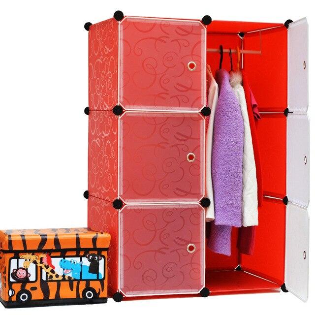 2016 venta nuevo organizador del armario 6 cubos del medio ambiente modular armario sencillo bricolaje baratos