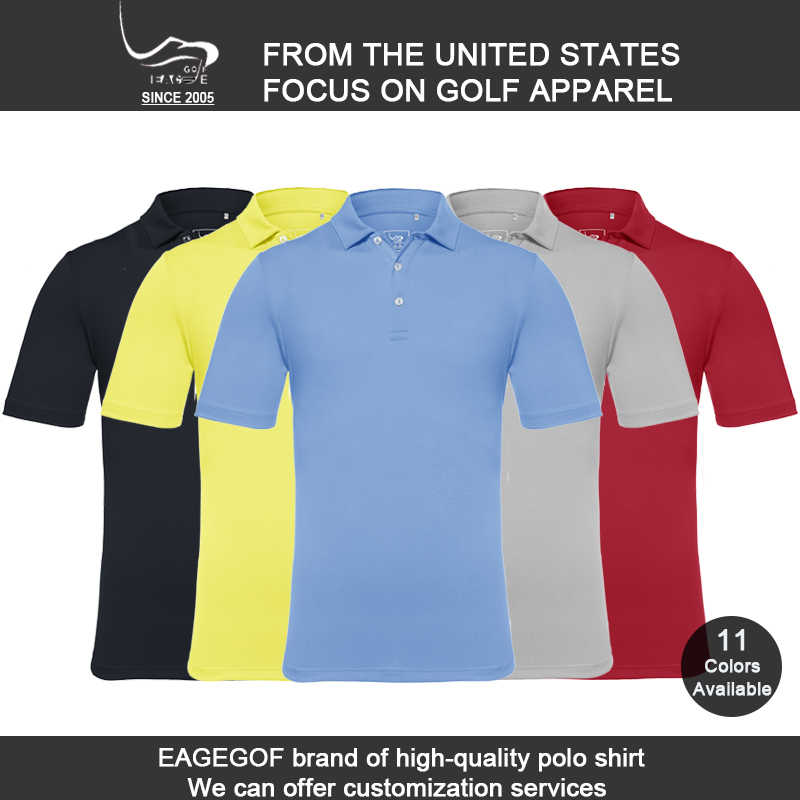dba0faa8c Wholesale EAGEGOF Men short sleeve golf Tshirt Quick Dry Breathable  sportswear Custom DIY Design Brand