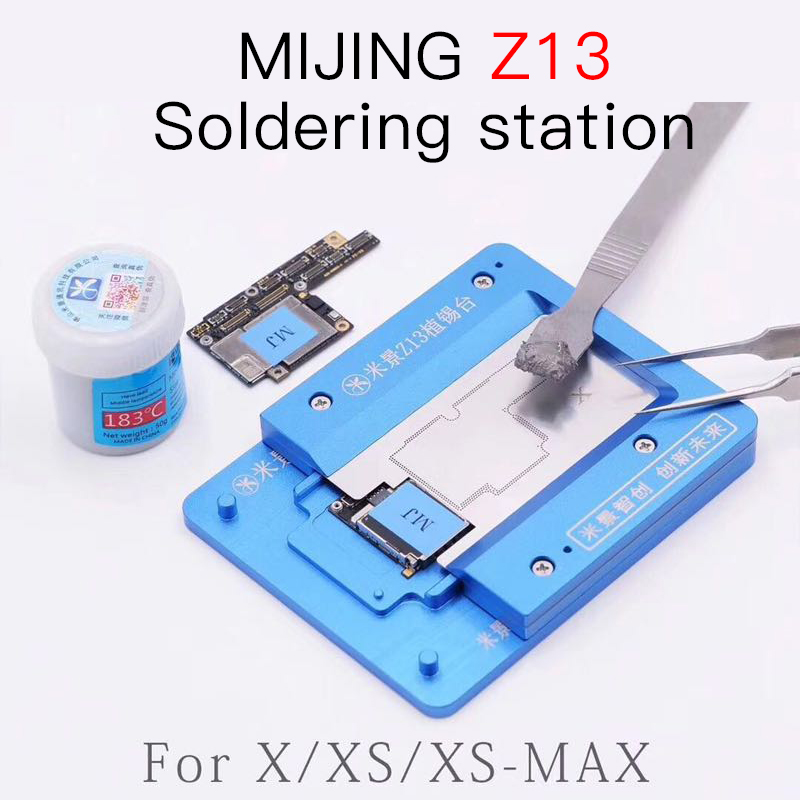 Mijing z13 bga reballing dispositivo elétrico para iphone x/xs/xsmax pcb titular gabarito placa plataforma de manutenção
