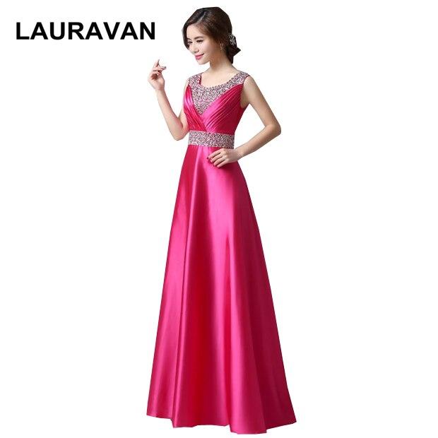 Longue pourpre fuchsia élégant femmes nouveauté a-ligne satin sans manches robe de demoiselle d'honneur robes formelles taille 8 v cou dos robe