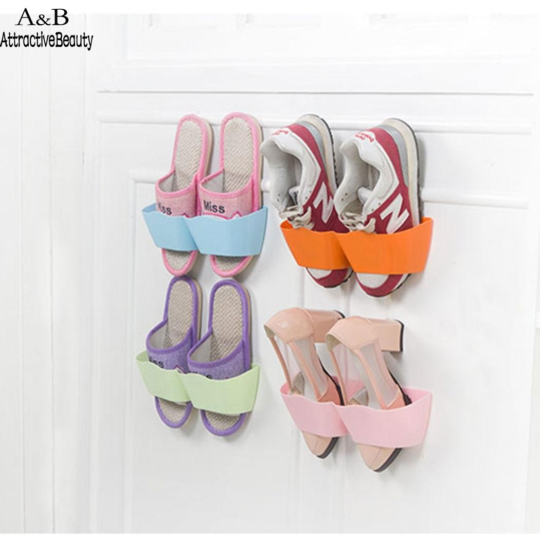Homdox Wall Mounted Shoes Rack Creative Plastic Shoes Shelf Holder Sticky Home Shoe N30AHomdox Wall Mounted Shoes Rack Creative Plastic Shoes Shelf Holder Sticky Home Shoe N30A