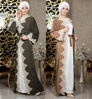Muslim Cardigan Long Robe Middle East Embroidered Women Dress Long Sleeve Dress Islamic Clothing Moroccan Fashion Luxury Robe