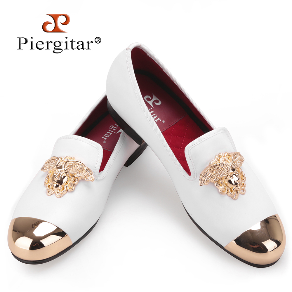 Italy fashion design bright face buckle and gold metal toe s