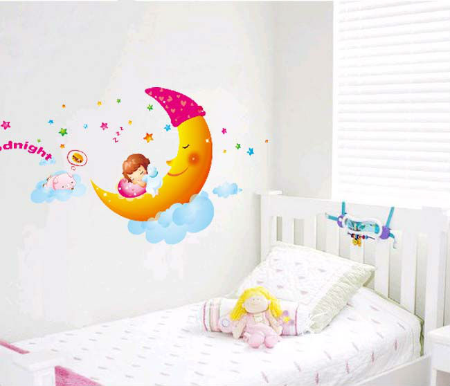 Cute Cartoon Skyrim Bedroom Decoration Crystal Wall Stickers For Kids Room Painting Diy Bathroom Art Poster Decal In From Home
