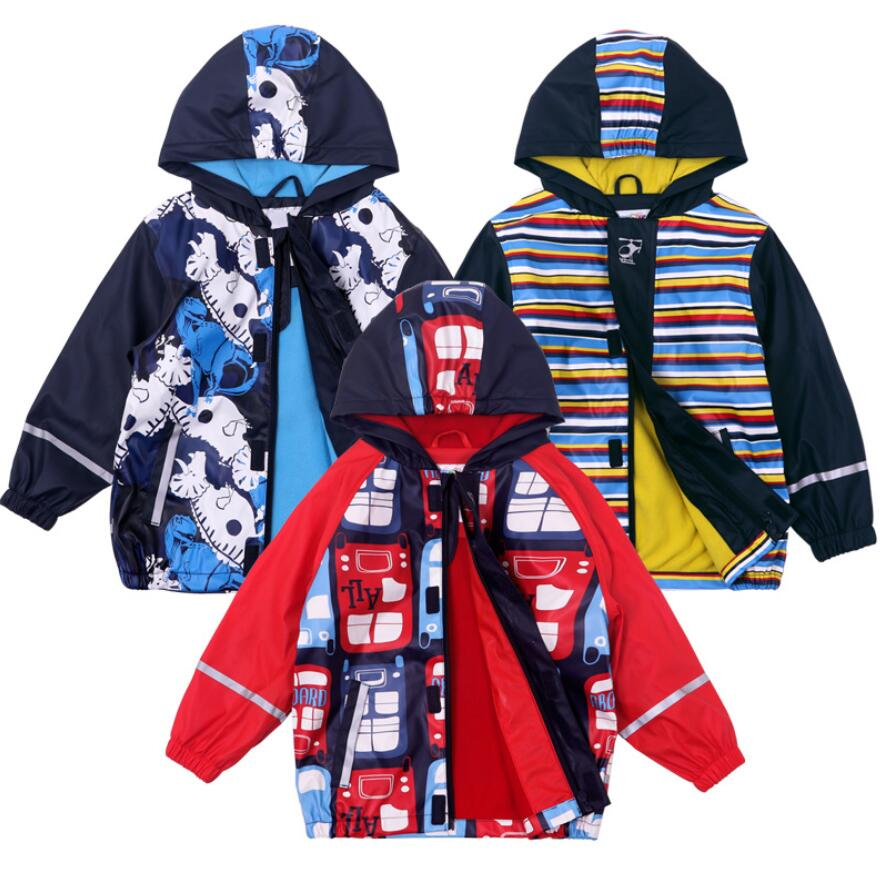 Toddler Unisex Waterproof Fleece Lined Jacket Hood Windproof Warm Softshell Rain Coat Outwear