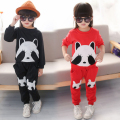 New Arrival Girls cute panda clothing set kids brand quality long sleeve t shirts + pants 2pcs baby girls sports clothes suits