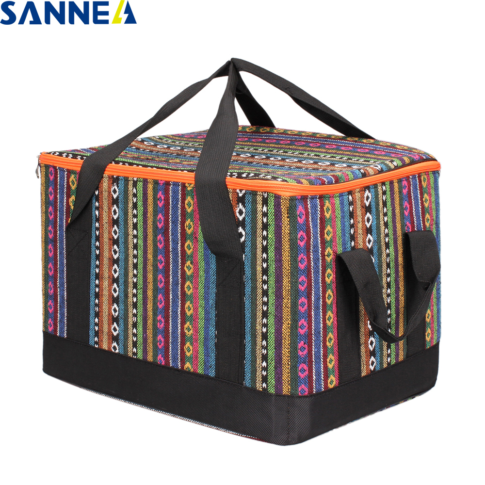 SANNE Portable Thermal Lunch Bags for Women Kids Multifunction Food Picnic Cooler Box Insulated Tote Bag Storage Container PY100 cute cartoon women bag flower animals printing oxford storage bags kawaii lunch bag for girls food bag school lunch box z0