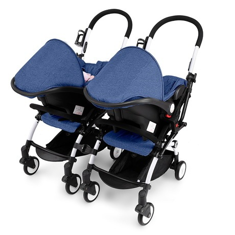 Twins Baby Stroller Lightweight Detachable Twin Car Seat Safety Set