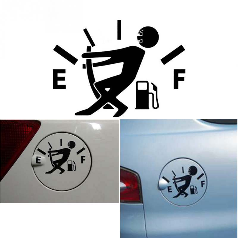 Car Stickers And Decals Car Stickers Styling 12CM*9CM High Gas Consumption Decal Fuel Gage Funny Vinyl Car Stickers Fuel Tank