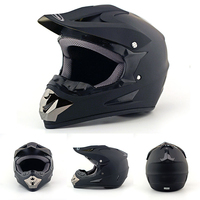 Mayitr Men New Motorcycle Matte Black Helmet ATV Dirt Bike Off Road Motocross Racing Helmet with Logo Size M/L/XL