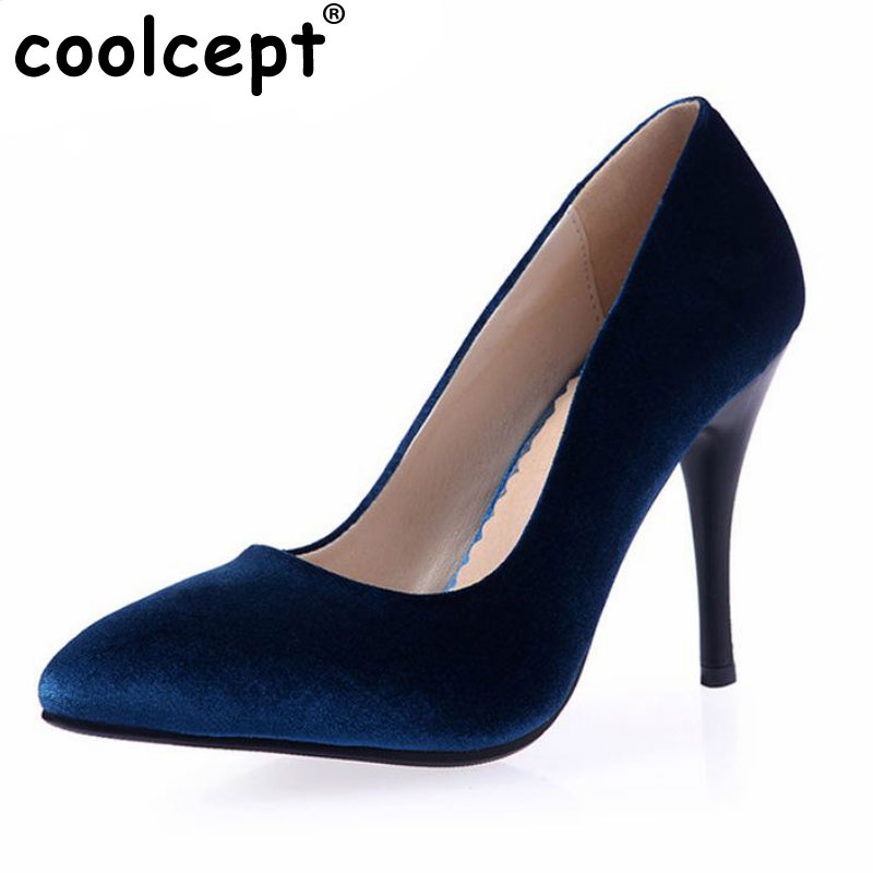 brand ladies thin high heel shoes sexy women quality vintage pumps fashion flock pointed toe footwear shoes size 32-44 P22689 2017 new summer women flock party pumps high heeled shoes thin heel fashion pointed toe high quality mature low uppers yc268