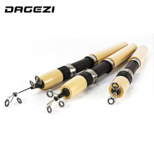 DAGEZI Wooden handle Ice Fishing Rod Telescopic Winter Fishing Stick Ultra light Ice Fishing Tackle 60/80/100cm
