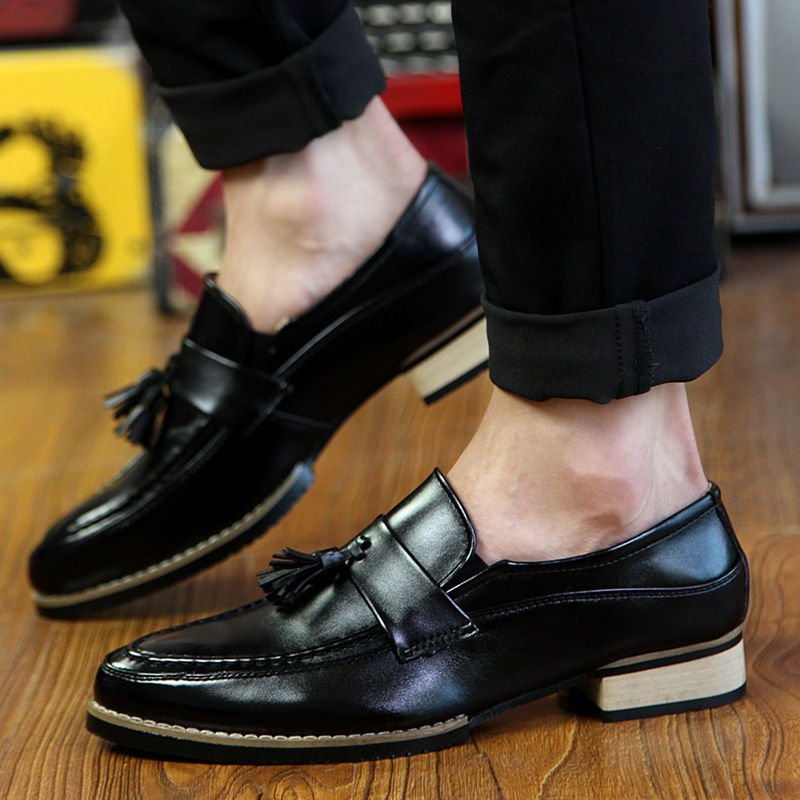 Shoes Loafers Business-Dress Soft-Moccasins P4 Men's Fashion High-Quality Gommino Chaussure title=
