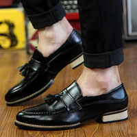 Men's Casual Shoes Fashion business dress Soft Moccasins Loafers High-Quality men Leather shoes Gommino Zapatos Chaussure p4