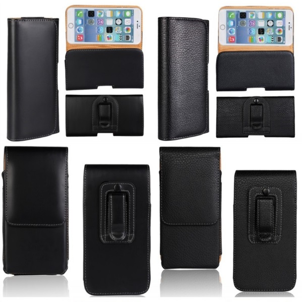 Belt clip case para samsung galaxy c9 pro funda de piel cubierta de bolsa case c