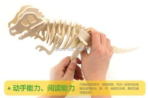 Image 2 - DIY детские 3D деревянные пазлы, модель самолета, сборочные строительные наборы, развивающие игрушки для детей