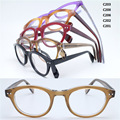 Wholesale F633 rctro full rim acetate front flexible spring hinge temple simple optical classic eyeglasses frames free shipping
