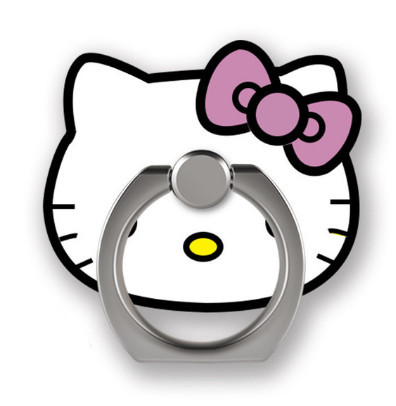 hello kitty Universal Stent Accessories Mobile Phone Holder Stand Finger Ring Magnetic For iphone X 8 plus huawei  Smart Phone